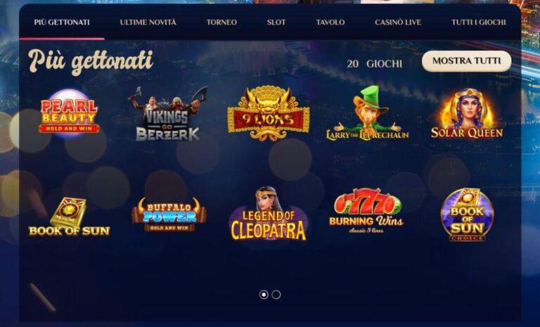 Confronto bonus e giochi presenti sul Vegasplus